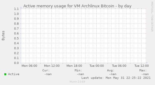 Active memory usage for VM Archlinux Bitcoin
