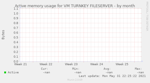 Active memory usage for VM TURNKEY FILESERVER