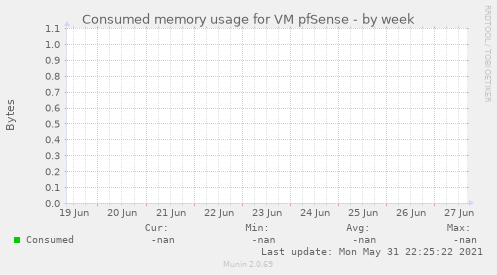 Consumed memory usage for VM pfSense