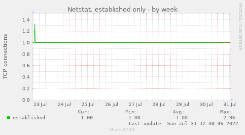 Netstat, established only
